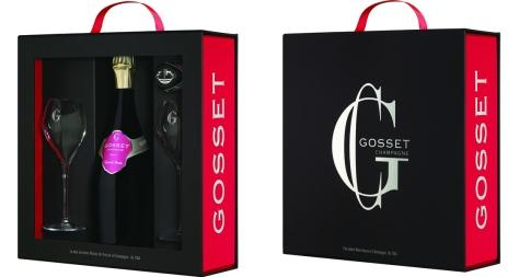 """Coffret """"Cuvée Grand Rosé"""" maison Gosset"""
